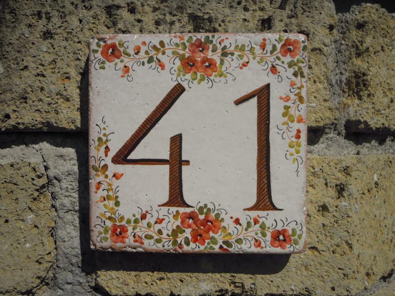 Targa ceramica numero civico decoro mare piastrella numeri civici