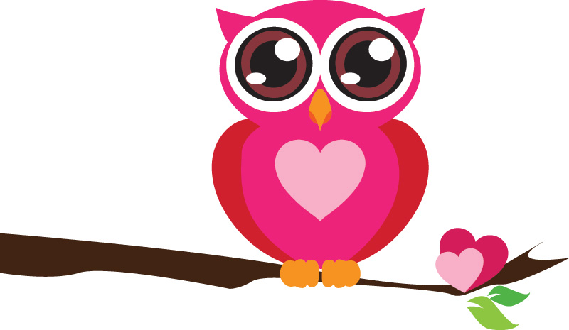 Imagenes buhos caricatura San Valentín - Imagui