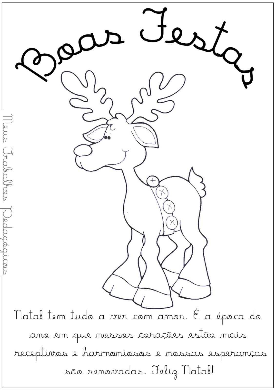 Atividades Para Baixar Desenhos Natal Com Frases Motivantes