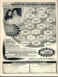 propaganda Instituto Universal Brasileiro - 1976. década de 70. os anos 70; propaganda na década de 70; Brazil in the 70s, história anos 70; Oswaldo Hernandez;