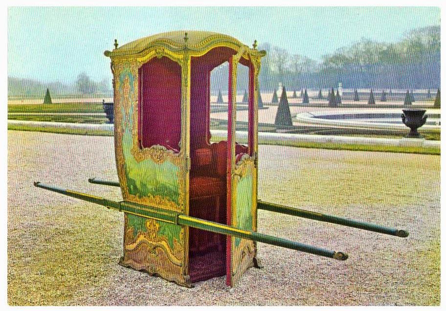 H raldie la chaise de madame la marquise est avanc e for Chaise a porteur