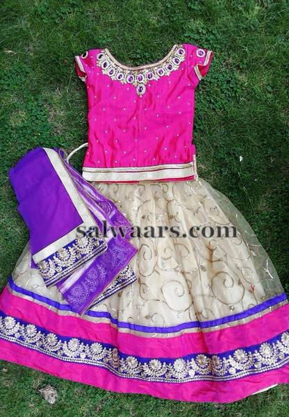Off white Brasso Lehenga with Duppatta