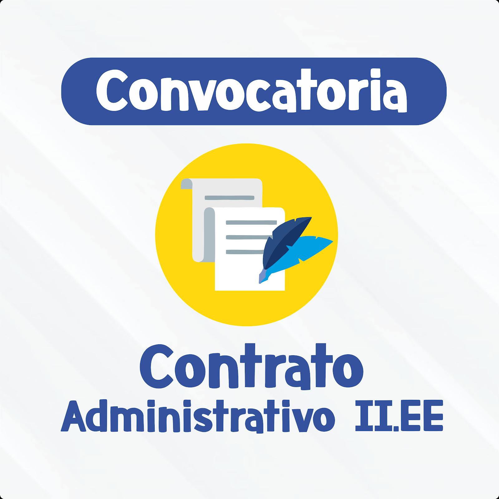 CONVOCATORIA ADMINISTRATIVA II.EE