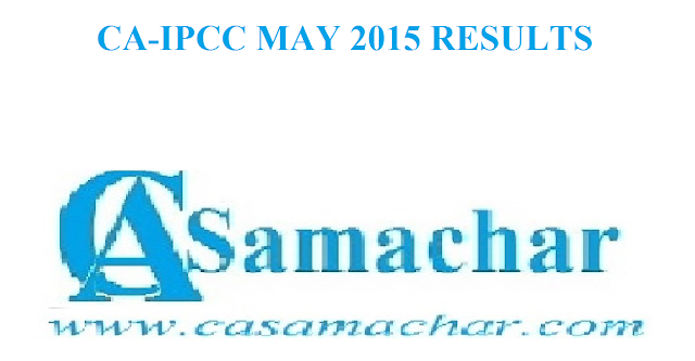 CA IPCC May 2015 Results