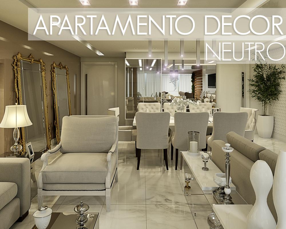 Apartamento com salas de estar jantar tv e varanda for Sala de estar off white