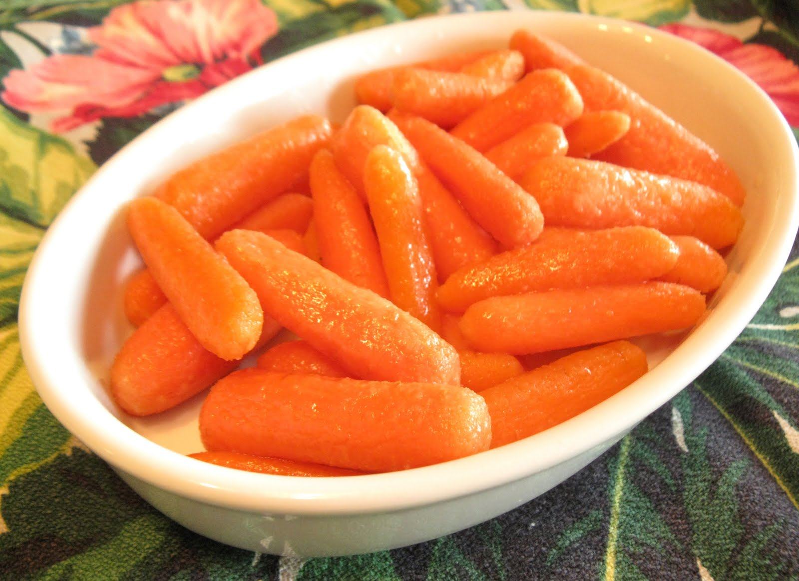 We don't discuss business at the table.: Maple Roasted Carrots