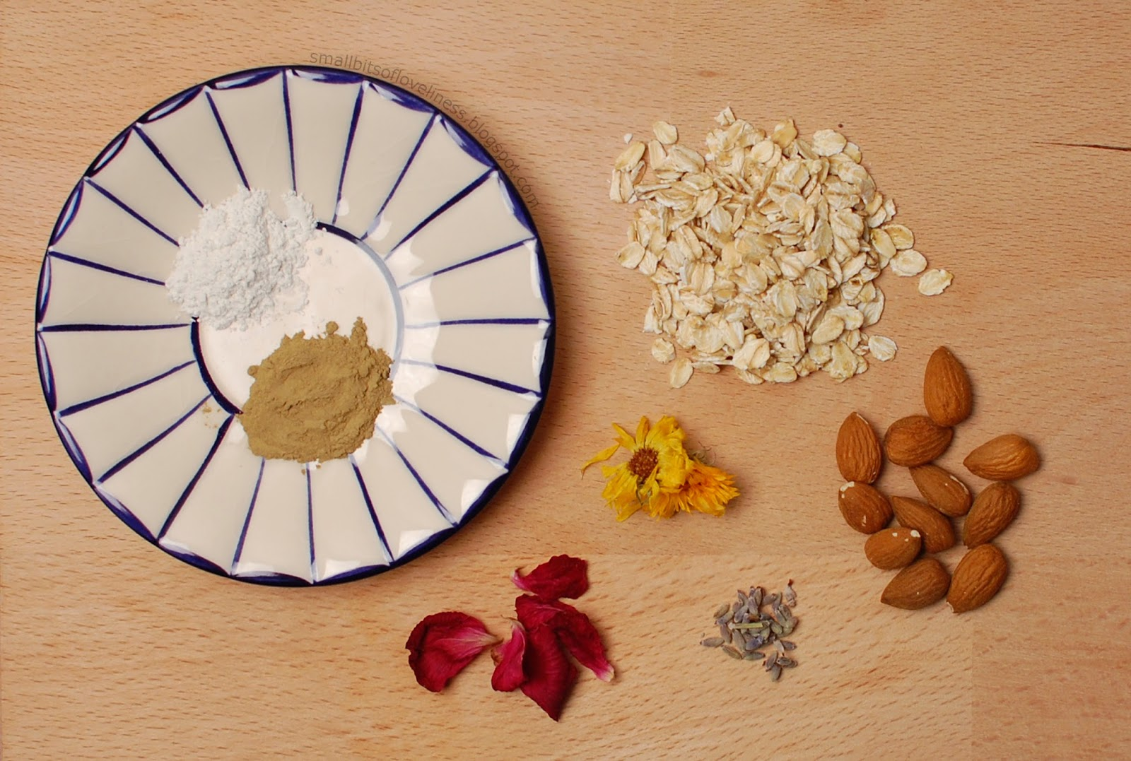 Ingredients for DIY Homemade Face Cleanser Exfoliator