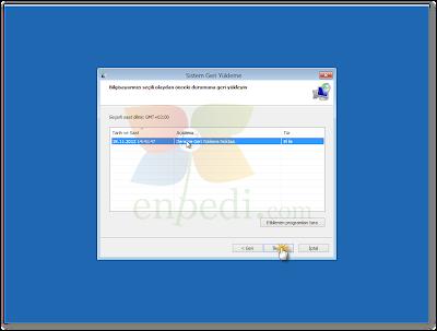 enpedi 15 29 11 Windows 8 Sistem Geri Yükleme Nasıl Yapılır