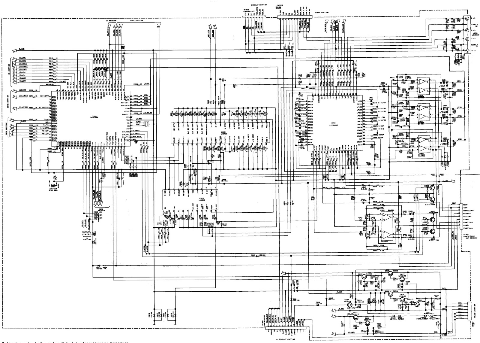 sharp cd c-470 - schematic  circuit diagram