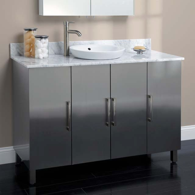 Vanity With Offset Sink : Picture of Bathroom Vanities/Cabinet with Offset Sinks - silver