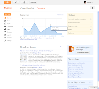 Blogger Overview Page