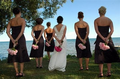 Black Bridal Party Dress