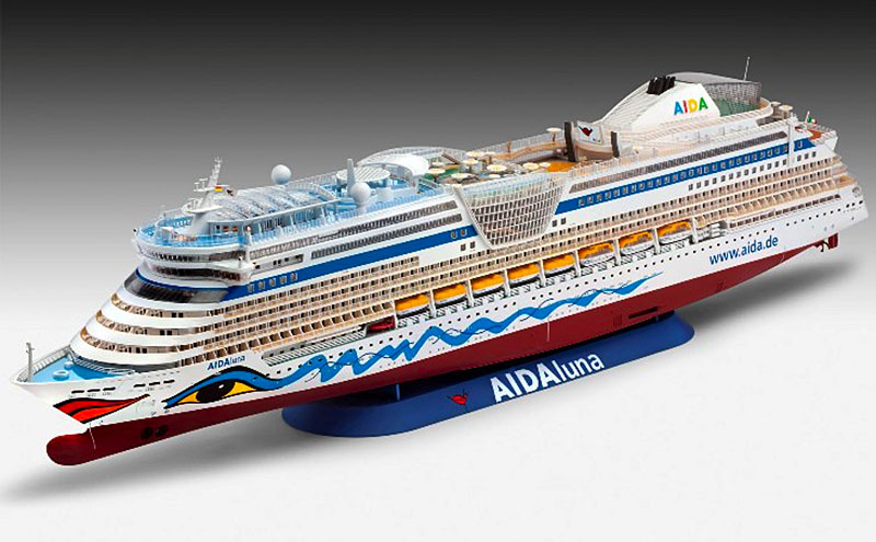 Scale Model News REVELL AIDA LINES CRUISE SHIP DISPLAY PIX OF - Model cruise ship kits