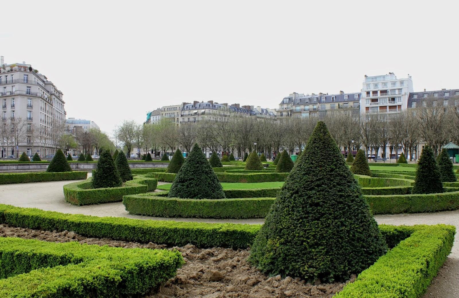En av Paris många vackra parker