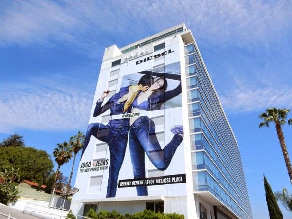 Giant Diesel Jogg Jeans billboard