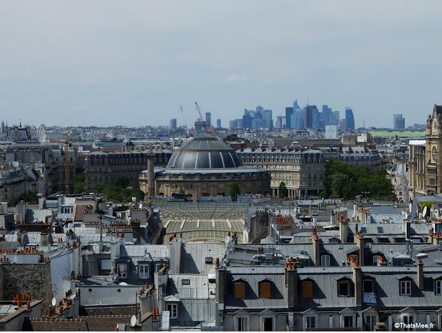 Vue de la canopée des Halles et de la Bourse du Travail Beaubourg Paris Centre George Pompidou