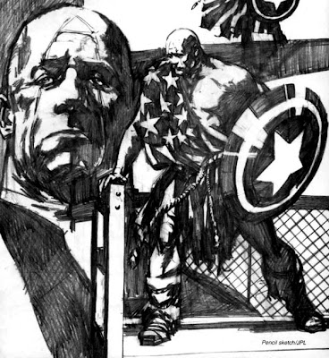 Captain America in Earth X Sketchbook