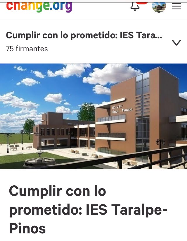 Firma por el IES TARALPE-PINOS