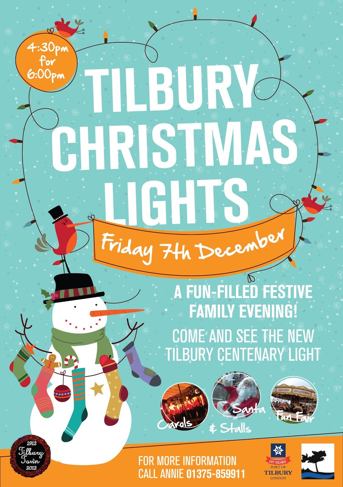 Christmas Poster Tilbury christmas lights 2012