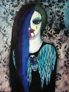 Ptáci, křídla a peříčka 2012 (kombin.technika na plátně, cca