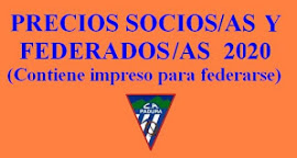 PRECIOS e IMPRESO SOLICITUD LICENCIA FEDERATIVA Y CUOTA SOCIO PADURA 2020