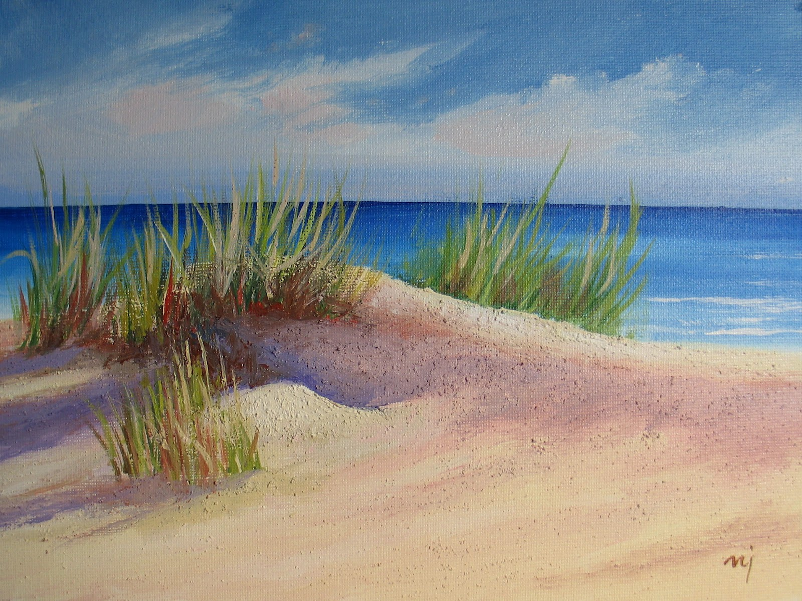 Nels Everyday Painting Sand Dune One and Two SOLD