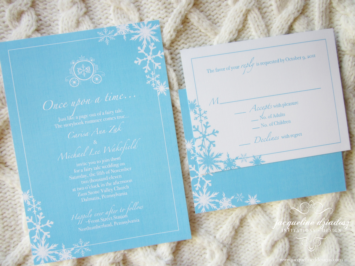 carisa michaels winter wedding invites michaels wedding invites Carisa Michael s Winter Wedding Invites