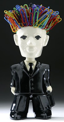 bobble head paper clip holder - man