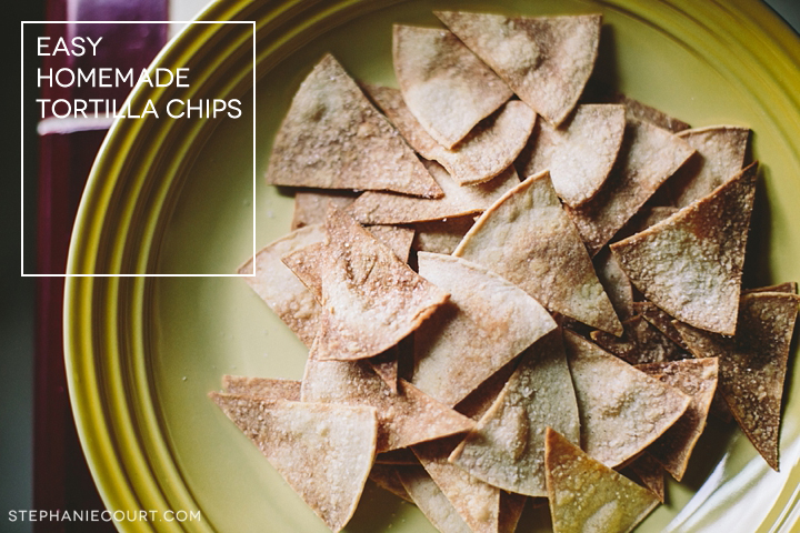 """homemade tortilla chips"""