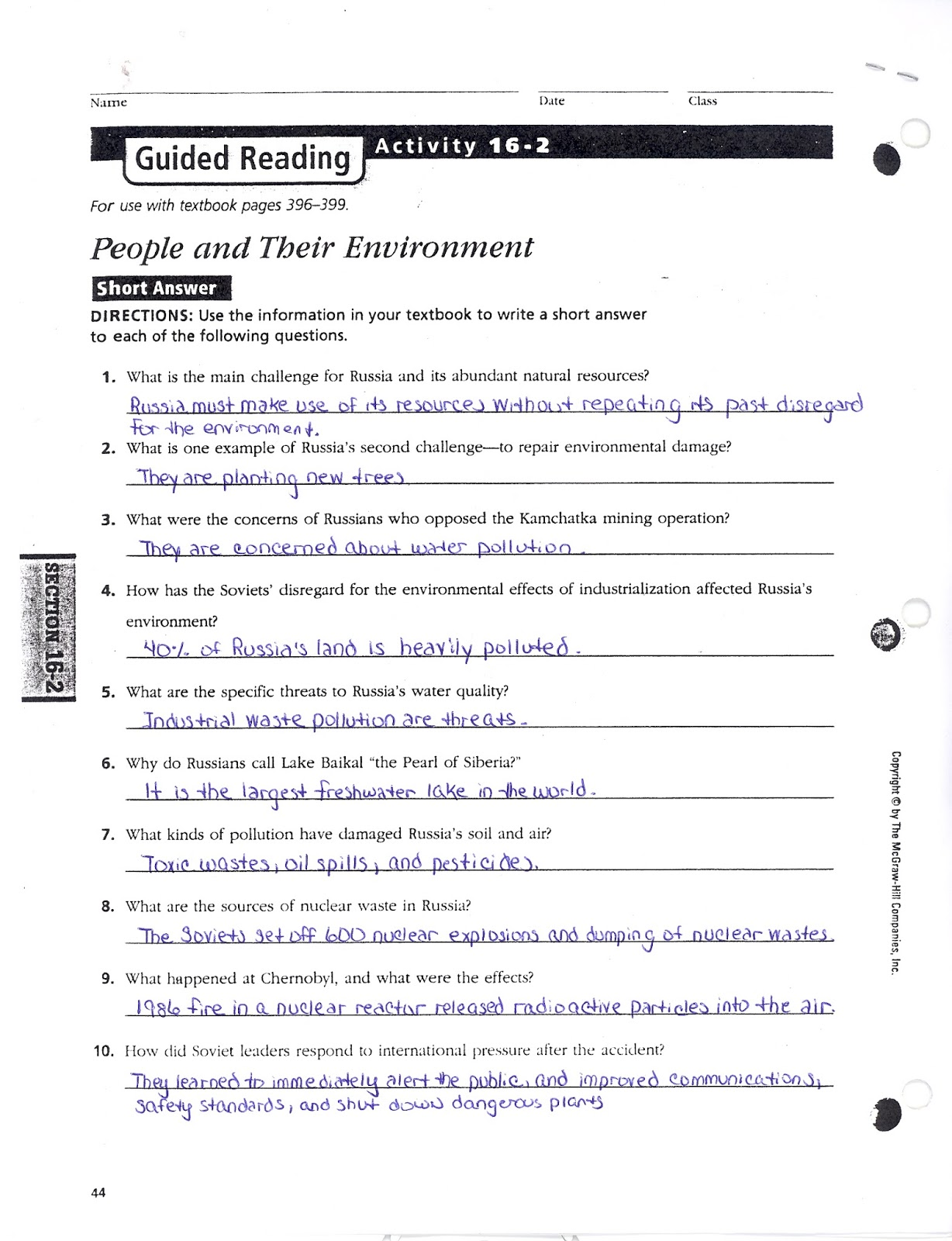 chapter 16 section 2 reading study Planets and earth's moon 215 reading a graph 16 chapter 22  results for earth science guided reading and study workbook chapter 2 section 221.