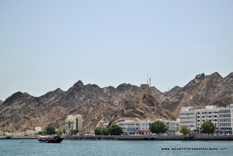 Mutrah Fort watching over the cultural district of Muscat