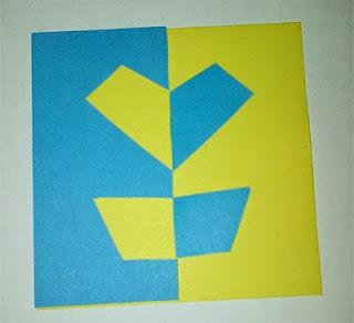 bermain komposisi dengan kertas warna