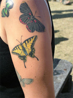 butterfly tattoos colors