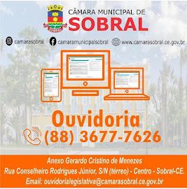 LIGUE PARA A OUVIDORIA DA CÂMARA MUNICIPAL DE SOBRAL