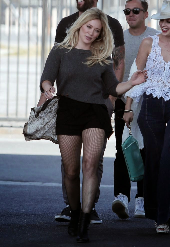 Hilary Duff Filming new music video 2014