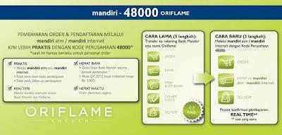 Pembayaran Oriflame via Bank Mandiri