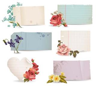Notas con flores para escribir mensajes