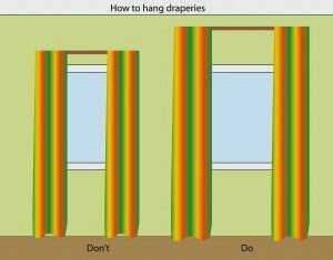how to hang draperies