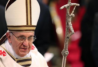 Image result for pope francis carrying twisted crucifix