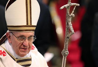 Image result for pope francis carrys twisted crucifix