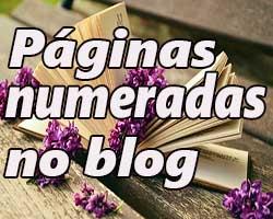 Páginas numeradas para blogs