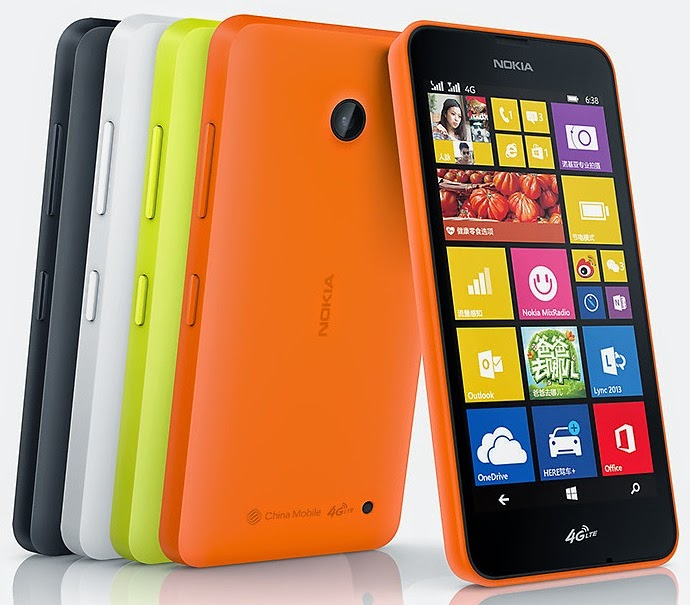Nokia Lumia 636 4G - Lumia 638 4G - China