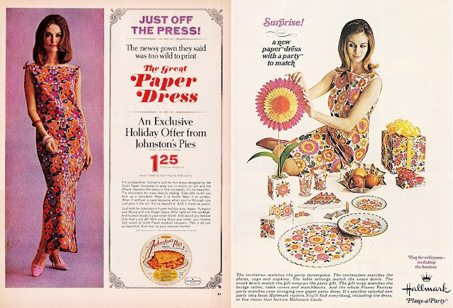 retro paper dress ads