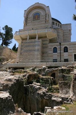 Israel Travel Guide - Christian Holy Places: Church of St. Peter in Gallicantu (Jerusalem).