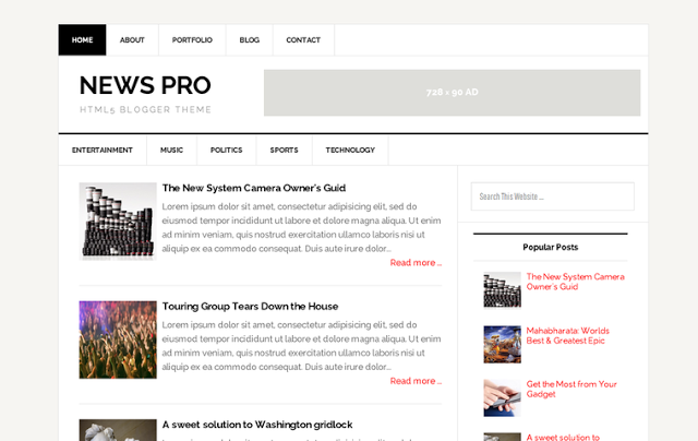 NEWS PRO 2015 RESPONSIVE BLOGGER TEMPLATES