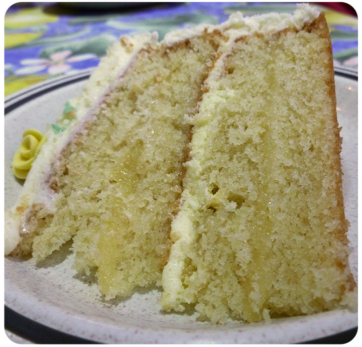 ... lovely lemon layer cake for my Mother-in-law's Birthday celebrations