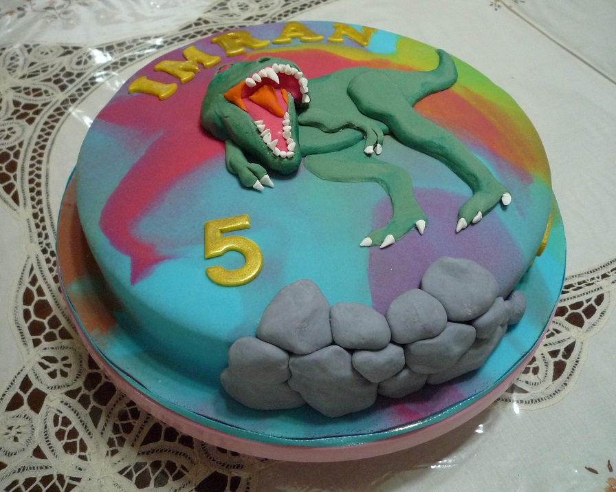 GG Home Biz Cakes Wedding Cakes Son Imrans TRex Dino Themed
