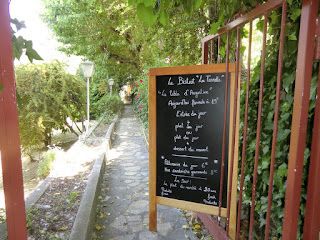 Entrance to the restaurant of Auberge de la Madone