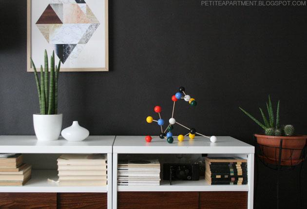 mid century modern home interior molecule set cactus suculent plants inspiration ikea