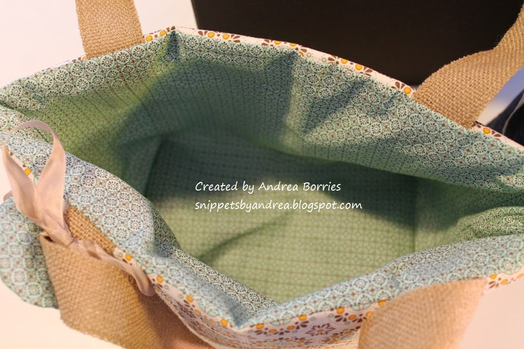 Photo showing the inside of one of the finished bags.
